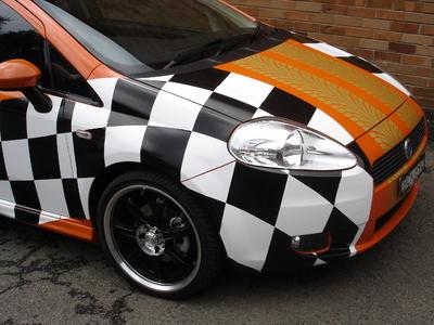 Reflective vehicle wrap