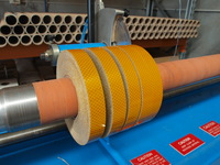 Reflective tape slitting